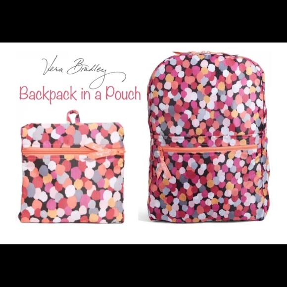 Vera Bradley Backpack in a Pouch Pixie Confetti